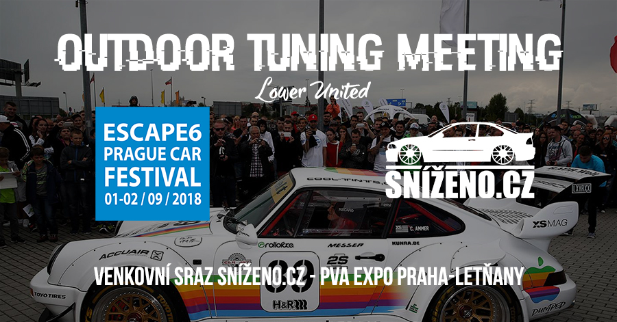 Sraz Sníženo.cz na Prague Car Festival 2018 - Outdoor tuning meeting